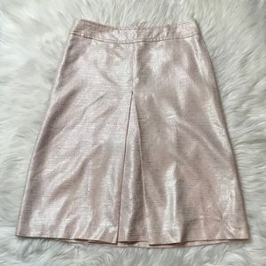 Barney's Pink & Silver Tweed Skirt